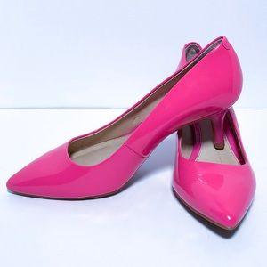 Gianni Bini Shoes | Magenta Patent Kitten Heels